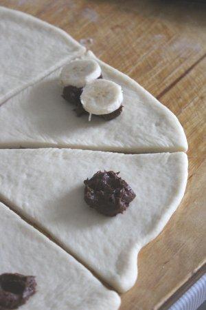 Рецепт Булочки с бананом и шоколадной пастой
