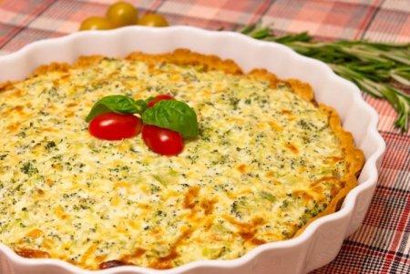 Рецепт Пирог с рикоттой, брокколи и сыром