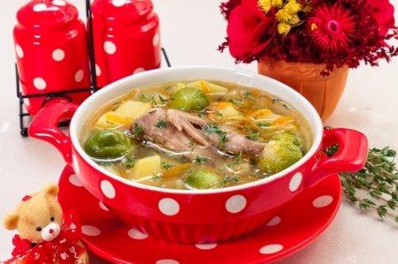 Рецепт Суп с перепелами, брюссельской капустой и картофелем