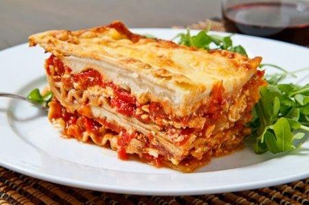 Рецепт Лазанья с ветчиной и овощами