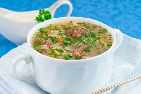 Рецепт Томатный суп с рисом и фрикадельками