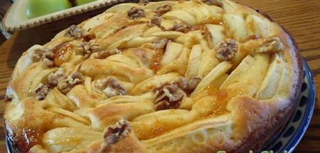 Рецепт Легкий яблочный пирог с йогуртом