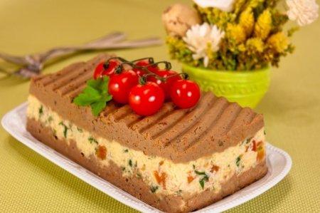 Рецепт Паштет с куриной печенью и сыром