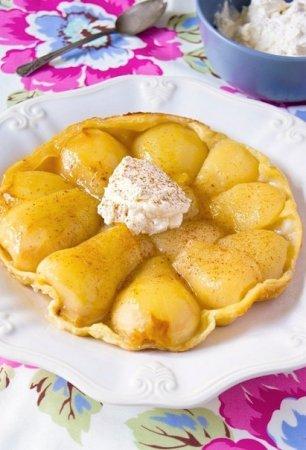 Рецепт Грушевый пирог с кремом из маскарпоне