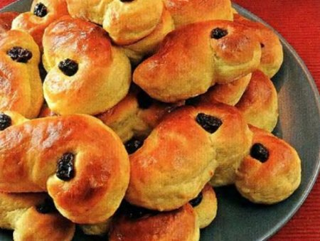 Рецепт Датские «Булочки Люсии»