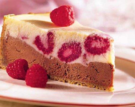 Рецепт Шоколадно-малиновый чизкейк