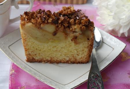 Рецепт Кекс с яблоками и хрустящей корочкой
