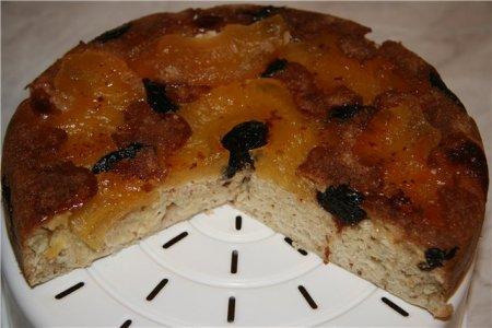 Миндальный пирог с сухофруктами в мультиварке
