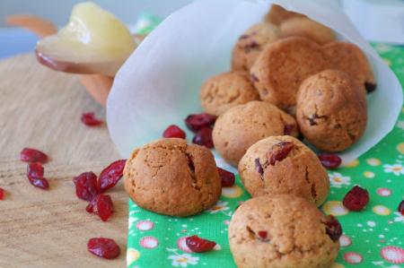 Рецепт Печенье из гречневой муки с вяленой клюквой