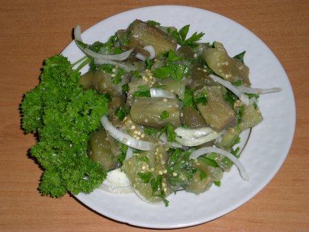 Рецепт Закуска из маринованных баклажанов
