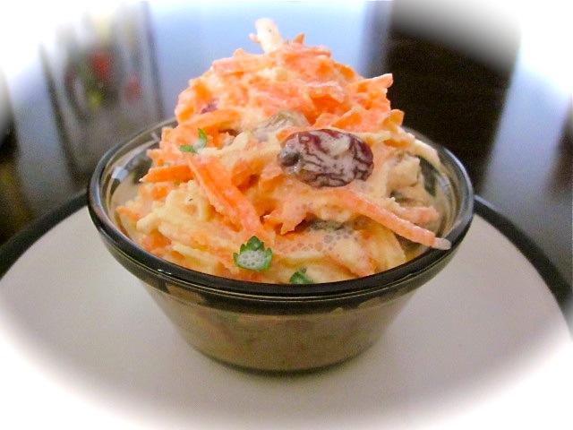 Салат со сметаной и хреном