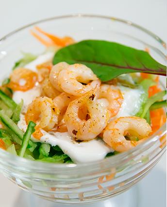 Рецепт Витаминный салат с креветками