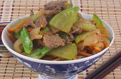 Рецепт Дунганская закуска из редьки, моркови и мяса