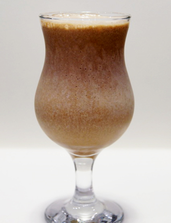 Рецепт Молочно-кофейный коктейль с бананом