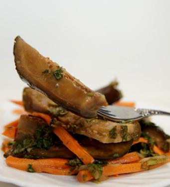 Рецепт Маринованные баклажаны с кинзой и чесноком