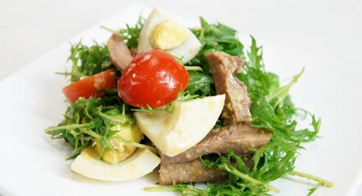 рецепты салатов из кальмаров и языка