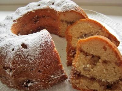 Рецепт Кекс с яблочным пюре и ореховой прослойкой