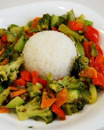 Рецепт Овощное соте с рисом
