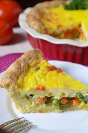 Рецепт Овощной пирог с творожной заливкой