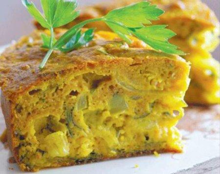 Рецепт Пирог с рубленой рыбой и карри