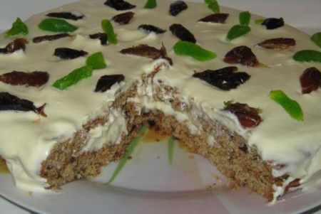 Рецепт Восточный рецепт финикового торта