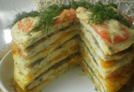 """Рецепт Закусочный торт """"Княжий"""""""