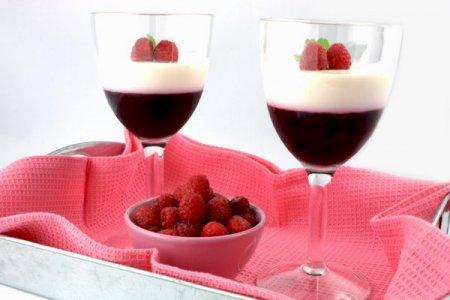 Рецепт Малина в желе из белого вина