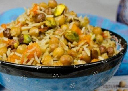 Рецепт Вегетарианский плов с нутом в мультиварке