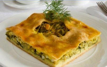 Рецепт Луковый пирог с вареными яйцами