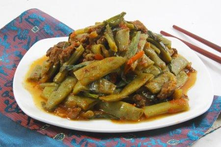 Рецепт Зеленая стручковая фасоль с мясом