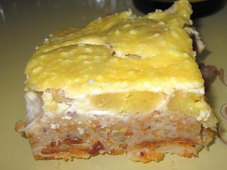 Рецепт Запеканка из чёрствого хлеба с творогом и бананом