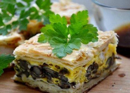 Рецепт Пирог с опятами