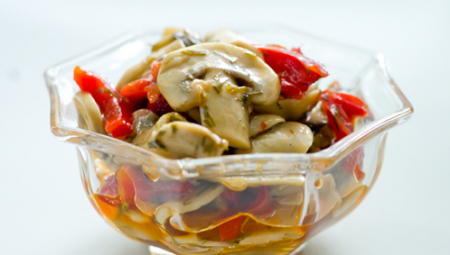 Рецепт Закуска из грибов с болгарским перцем