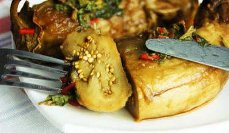 Рецепт Маринованные баклажаны с чесноком и мятой