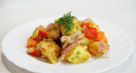 Рецепт Салат из картофеля с болгарским перцем
