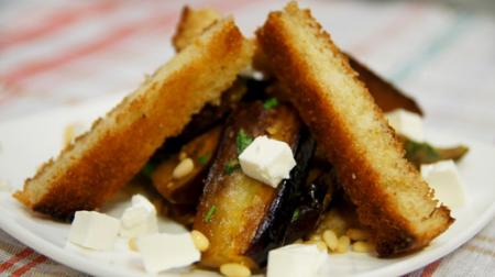Рецепт Баклажаны с сыром и гренками по-провански