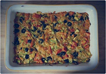 Рецепт Быстрая вкусная овощная запеканка