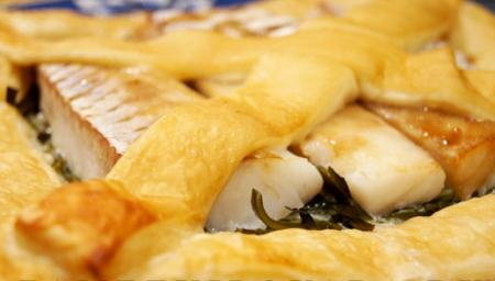 Рецепт Пирог с морской капустой и рыбой