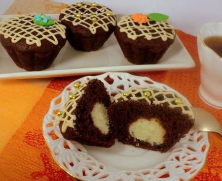 Рецепт Шоколадные маффины с сюрпризом