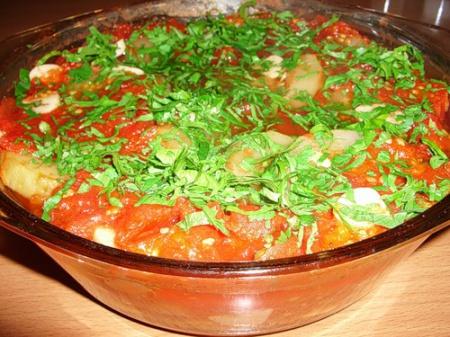 Рецепт Баклажаны с перцем и чесноком