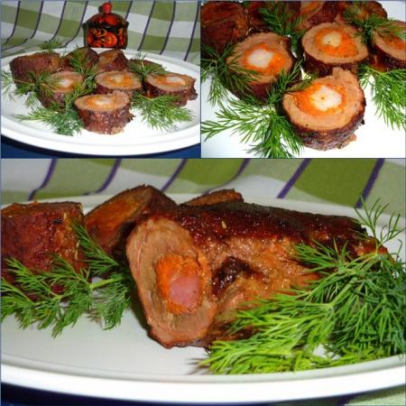 Рецепт Рулетики из телячьей печени