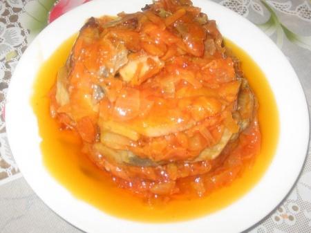 Рецепт Копченая сельдь под томатным соусом