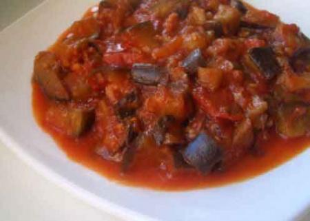 Рецепт Баклажаны в томатно-чесночном соусе