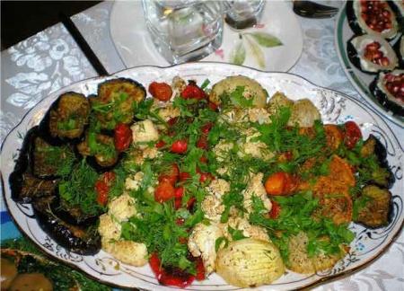 Рецепт Деревенская закуска из овощей