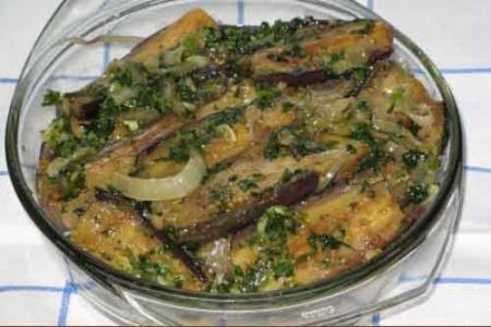 Рецепт Баклажаны с чесноком и зеленью