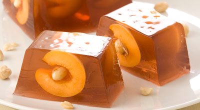 Рецепт Абрикосы с орехами в желе