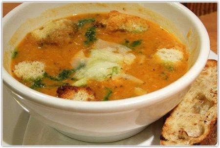 Рецепт Суп из индейки с сырными гренками