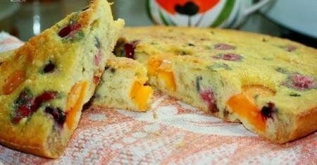 Рецепт Простой пирог с фруктами