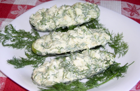 Рецепт Салат из огурцов и яиц