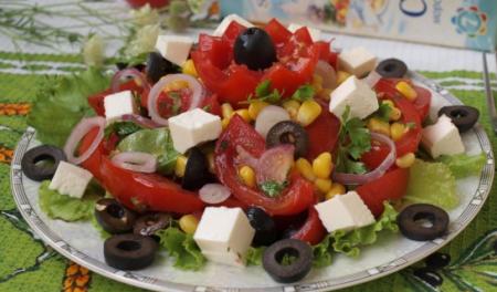 Рецепт Критский салат с фетой
